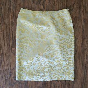 Gold Banana Republic pencil skirt